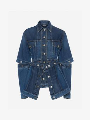 Alexander McQueen Deconstructed Denim Jacket