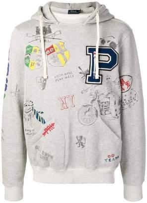 Polo Ralph Lauren collegiate printed hoodie