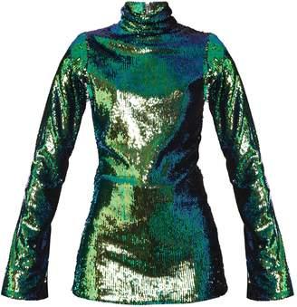HALPERN High-neck sequin-embellished top