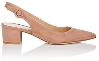 Gianvito Rossi Women's Amee Suede SIingback Pumps - Nudeflesh