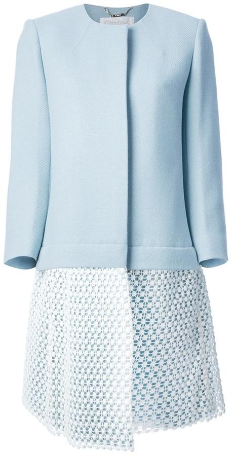 Chloé crochet coat