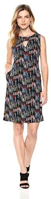 Nine West Women's Shift Dress with Side Panels & Front Pockets