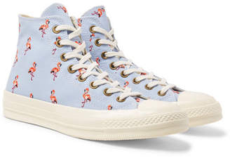 0c826c6a5b69df ... Converse 1970s Chuck Taylor All Star Embroidered-Canvas High-Top  Sneakers - Sky blue