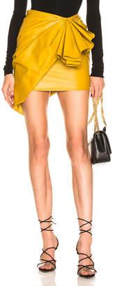 Alexandre Vauthier Ruched Mini Skirt in Goldenrod | FWRD