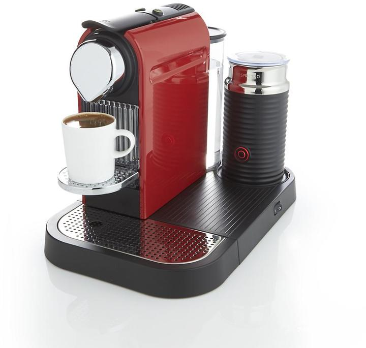 Nespresso Citiz Red Espresso Machine with Aeroccino Frother