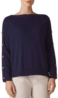 Whistles Button-Detail Sweater