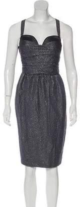 Proenza Schouler Metallic Sleeveless Knee-Length Dress