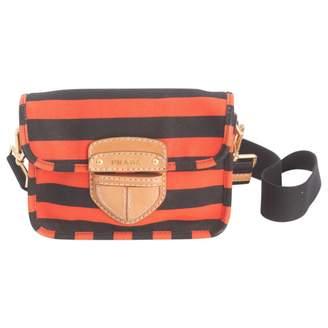 Prada Orange Cloth Clutch Bag