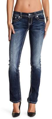 MISS ME Embellished Straight Leg Jeans