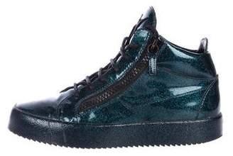 Giuseppe Zanotti Metallic Patent Leather Sneakers