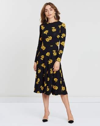 b87a78eab00 Dorothy Perkins Black Print Jersey Dresses - ShopStyle Australia