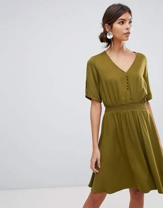 Y.A.S midi dress with elasticated waist
