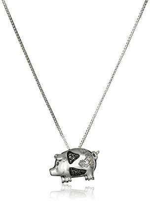 Pig necklace shopstyle at amazon sterling silver black and diamond accent pig pendant necklace mozeypictures Gallery