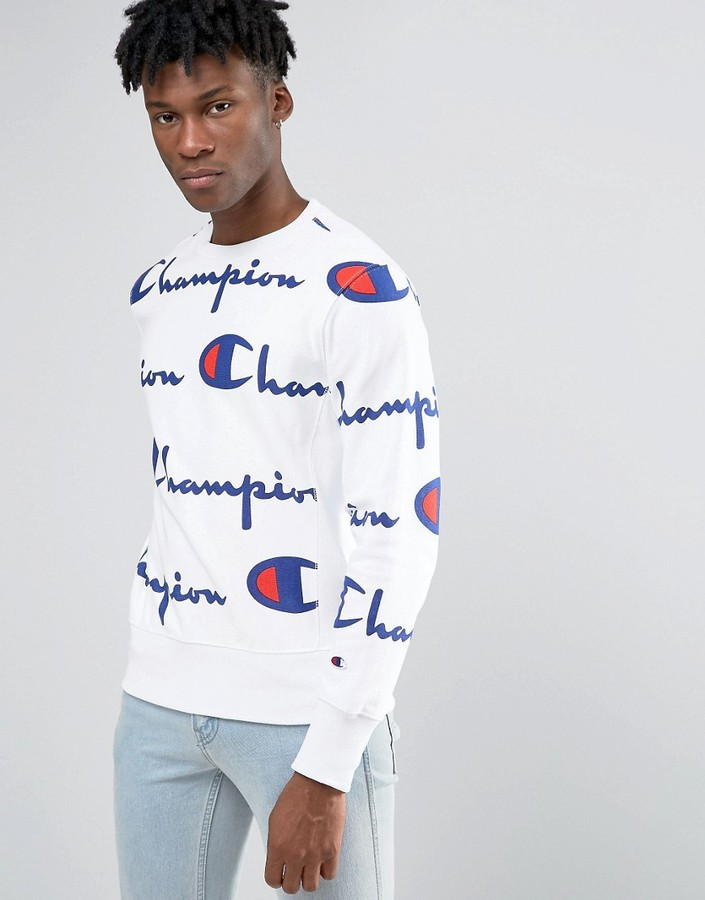 Champion Sweatshirt With All Over Script Logo