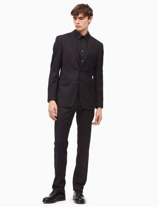 Calvin Klein x-fit ultra slim fit burgundy pindot suit