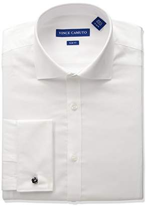 Vince Camuto Men's Slim Fit Spread Comfort Collar Dress Shirt