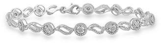 FINE JEWELRY 1/4 CT. T.W. Genuine White Diamond Sterling Silver 7.5 Inch Tennis Bracelet