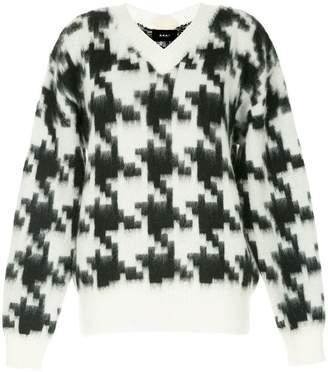G.V.G.V. houndstooth pattern jumper