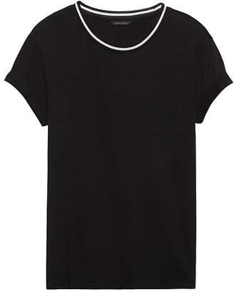 Banana Republic Cotton-Modal Roll-Cuff Crew-Neck T-Shirt