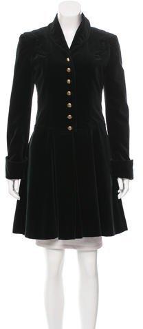 Anna SuiAnna Sui Velvet Knee-Length Coat