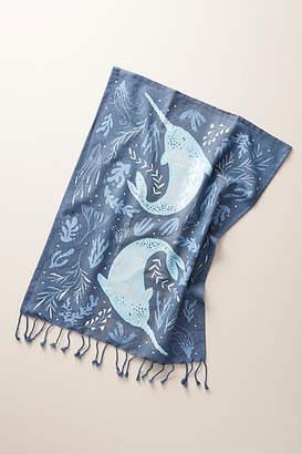 Anthropologie Danica Studio x Narwhal Rare & Beautiful Dish Towel