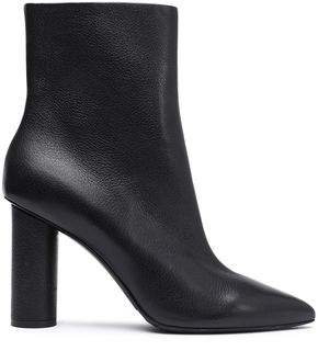 Oscar de la Renta Textured-leather Ankle Boots