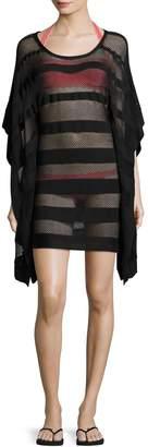 Herve Leger Solid Mesh Cover-Up Dress