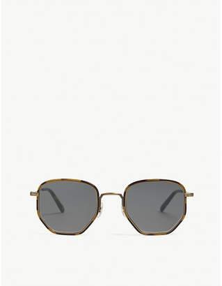 Oliver Peoples Mens Gold Modern Alland Irregular-Frame Sunglasses