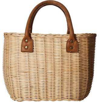 Hat Attack Wicker Small Basket Bags