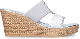 Carvela Metallic Sheldon Wedge Sandals