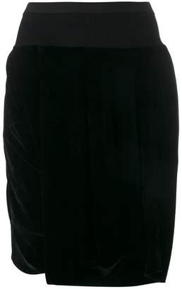 Rick Owens velvet knee shorts