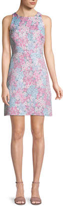 Kate Spade Sleeveless Floral Jacquard Mini Dress