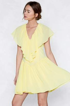 Nasty Gal Ruffle Time Mini Dress