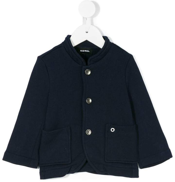 button front jersey cardigan