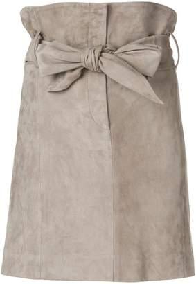 IRO bow tie high waisted skirt