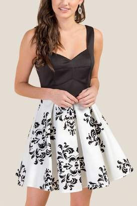 francesca's Christine Floral Burnout Dress - Ivory