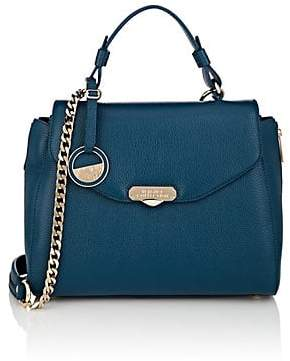 Versace WOMEN S LEATHER SATCHEL - BLUE 59cfc10c71d0c