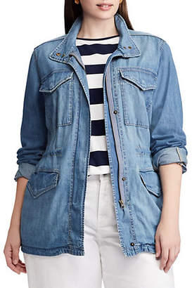 Chaps Plus Denim Field Jacket