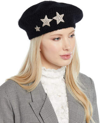718bc2e5900 at Bergdorf Goodman · Jennifer Behr Estrella Mohair-Blend Knit Beret w   Embellished Stars