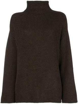 Agnona chunky knit polo neck