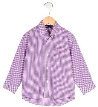 Oscar de la Renta Boys' Gingham Button-Up Shirt