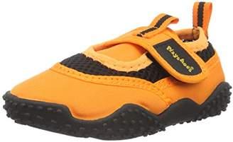 Playshoes Unisex Kids' Aquaschuhe, Badeschuhe Neonfarben mit Höchstem Uv-Schutz Nach Standard 801 Water Shoes, (Orange 39), 4 Child UK