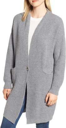 Barbour Audrey Longline Wool Cardigan