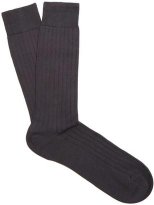 Pantherella Pembrey Cotton Blend Socks - Mens - Charcoal