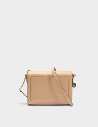 8ed071929e20 DKNY Bryant Medium Box Crossbody Bag in Egg Nog Sutton Textured Leather