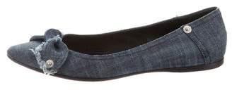 Miu Miu Denim Pointed-Toe Flats