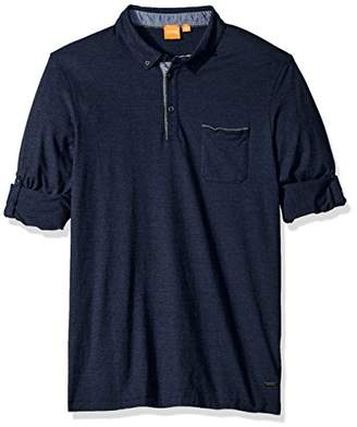 HUGO BOSS BOSS Orange Men's Patcherman Long Sleeved Polo Shirt