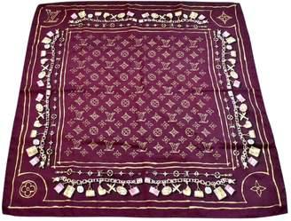 Louis Vuitton Burgundy Silk Scarves