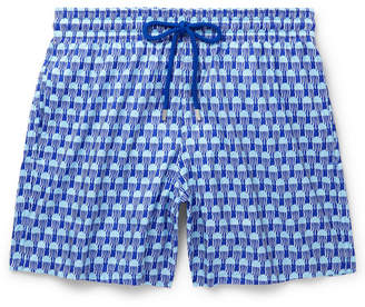 Vilebrequin Mahina Mid-Length Printed Swim Shorts - Men - Blue