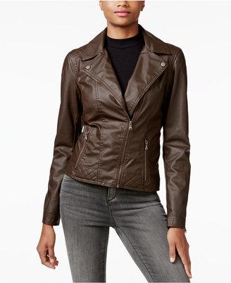 Celebrity Pink Juniors' Faux-Leather Moto Jacket $69.50 thestylecure.com